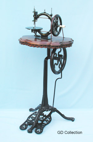 how to clean an old treadle base